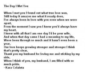 The day i met you anniversary quote