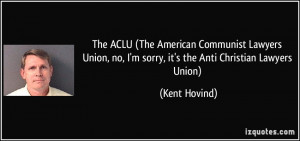 The Aclu American Munist...
