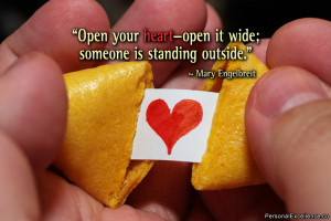 "Open your heart—open it wide; someone is standing outside."" ~ Mary ..."
