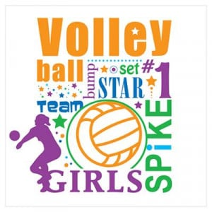 CafePress > Wall Art > Posters > Bourne Volleyball Poster
