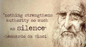 This quote by Davinci reminds me of the MLK Jr. Quote,