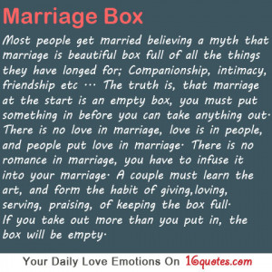 : [url=http://www.quotes99.com/marriage-box-most-people-get-married ...