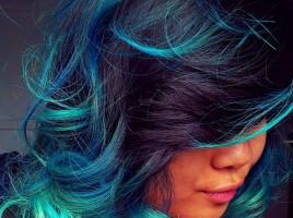 Rainbow Hair Color Ideas   POPSUGAR Beauty. Dark red hair with blue ...