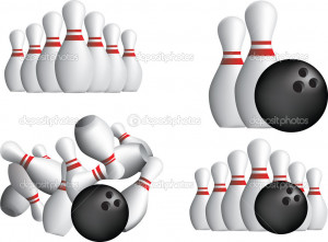 Ten Pin Bowling Pins Stock Illustration picture