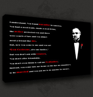 Details about GODFATHER QUOTE ICONIC MOVIE CANVAS PRINT POP ART POSTER ...