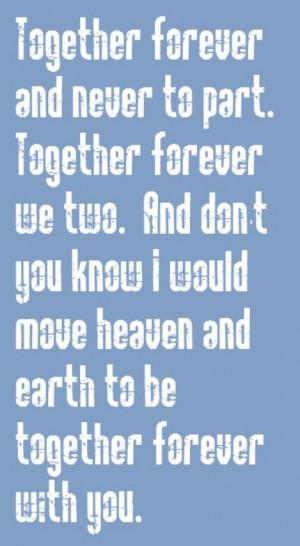Rick Astley Together Forever Lyrics