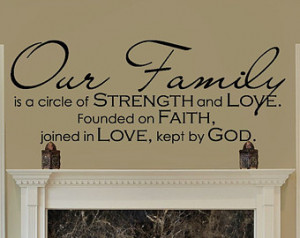 ... Family - Family Quote - Family Wall Sign Vinyl Wall Decal - Christian