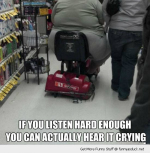 fat obese woman mobility scooter broken squashed hear cry listen ...