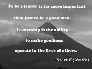 ... to Make Goodness Operate In the Lives of Others ~ Leadership Quote