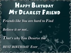 Happy Birthday My Dear Friend Quotes Happy birthday my dearest