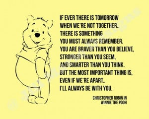 Christopher Robin (Winnie the Pooh) Quote