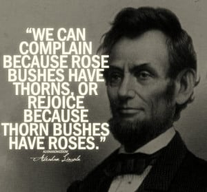 Abraham Lincoln Quote about Roses