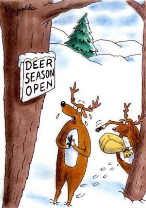 Funny cartoon – Deer season open