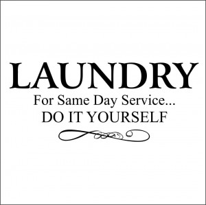 Laundry for Same Day Service Do It Yourself