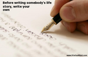 quotes about writing your own story new zealand story
