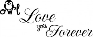 Owl Love you forever wall decal.
