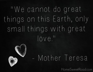 Mother Teresa Inspiration – Blessing Bags