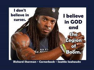 Poster Seattle Seahawks Richard Sherman Photo Quote Wall Art Print ...