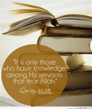 Those Who Have Knowledge - Islamic Quotes ← Prev Next →