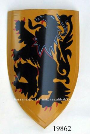 Medieval Dragon bouclier peint à la main