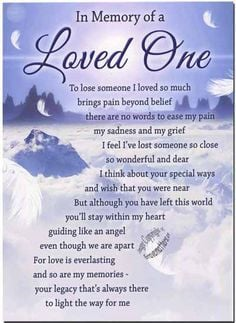 Loved one... In Loving Memory of Cindy's 3rd Death Anniversary on ...