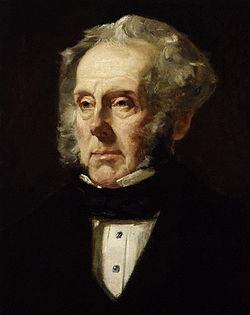 Lord Palmerston por Francis Cruikshank, 1855.