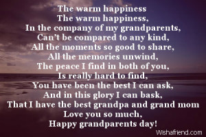 grandparents day poems grandma poems from kids grandparents poems ...