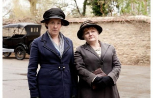 Mrs Hughes and Mrs Patmore.