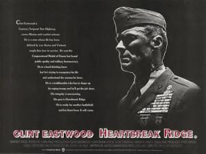 Heartbreak Ridge 1986 Clint Eastwood Marsha Mason UK QUAD poster 30x40