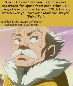 Fairy tail guild master macarov quote