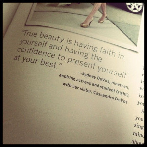 ... from the pages of Nigel Barkers Beauty Equation #reinvention2013