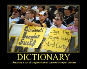 Re: Bengals-Steelers Demotivational Poster Smack