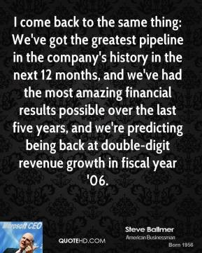 Steve Ballmer - I come back to the same thing: We've got the greatest ...