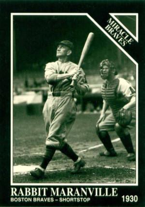 Rabbit Maranville Baseball Player