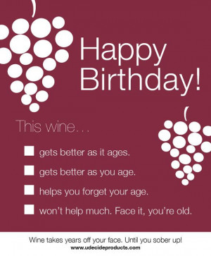 ... Quotes, Birthday Wine, Birthday Greetings, Wine Bottle Labels, Funnies