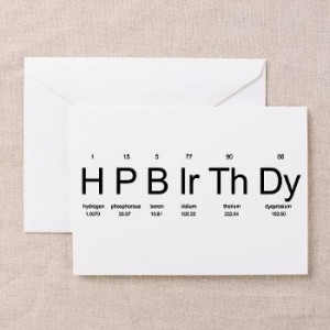 Periodic Table Birthday Card   Gifts For A Geek   Geek T-Shirts