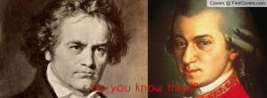 Mozart and Beethoven Profile Facebook Covers