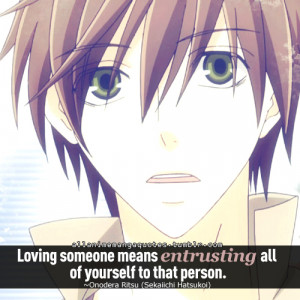 ... this image include: anime, onodera ritsu, quotes, yaoi and animequotes