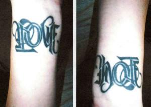 Hate Love Tattoo Tattoos Wrist