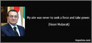 Hosni Mubarak Quote