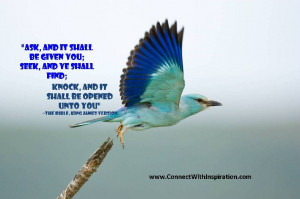 Law of Attraction, Ask and it is given quote, Bird flying