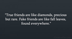 True Friends Fake Friends Quotes