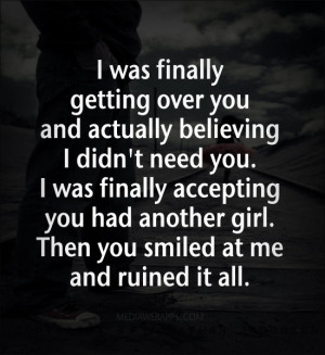 hurt over and over quotes about getting over someone quotes about ...