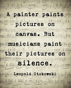 Music Quote Musical Notes Vintage Style Music Lover Leopold Stokowski ...