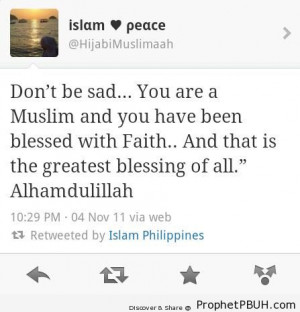 ... Sad (Tweet Screenshot) - Islamic Quotes About God's Kindness and Mercy