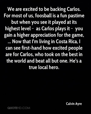 We are excited to be backing Carlos. For most of us, foosball is a fun ...