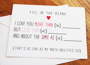 Fill in the Blank (Math) - Nerdy, Funny, Ad Libs Anniversary Card ...