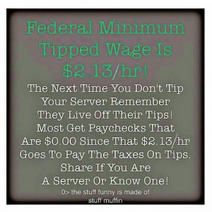 Tip your server period.