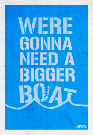 Jaws Poster - Quote Series by SteSmith
