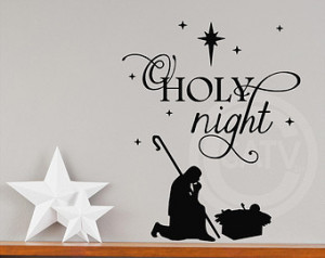 with baby Jesus Christ mas vinyl lettering wall decal sticker quote ...